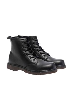 unisex black combat boots  DIESEL KIDS | 12 | BY0515PR013T8013