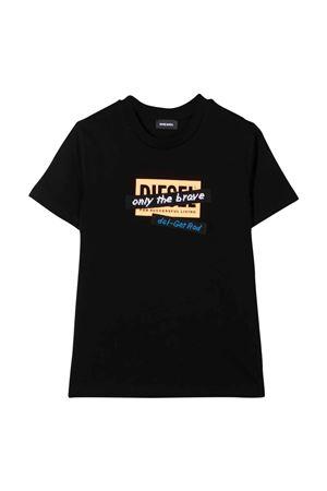 T-shirt nero bambino DIESEL KIDS | 7 | J002650HERAK900
