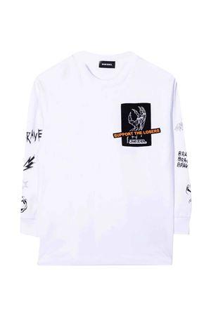 White T-shirt  DIESEL KIDS | 8 | J002760HAYUK100