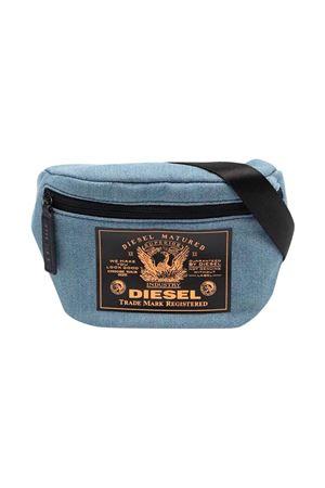 Denim pouch with black and orange print DIESEL KIDS | 31 | J00403P1730H8457