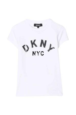 unisex white t-shirt  DKNY KIDS | 8 | D35R5810B