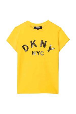 yellow teen t-shirt  DKNY KIDS | 8 | D35R58530T