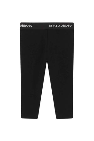 Leggins neri neonata Dolce & Gabbana kids | 411469946 | L2JP3JG7BGAN0000