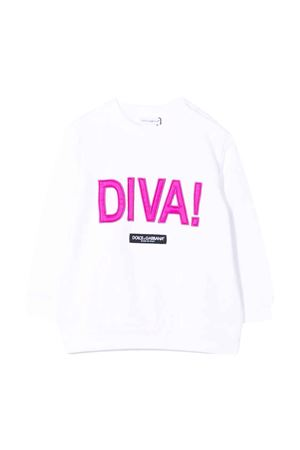 Felpa bianca neonata Dolce & Gabbana kids | -108764232 | L2JWM2G7BGYW0800