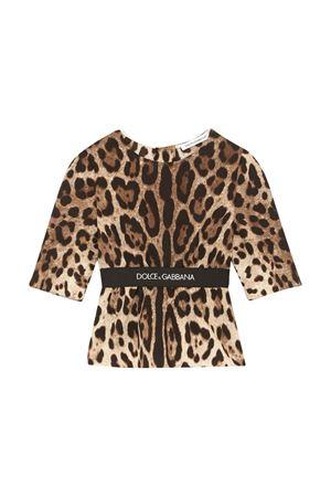 Leopard-print blouse  Dolce & Gabbana kids   194462352   L55S41G7BIJHY13M