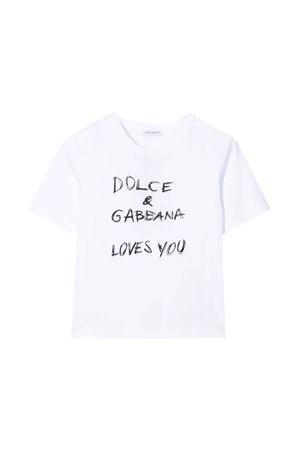 T-shirt bianca bambina Dolce & Gabbana kids | 8 | L5JTAZG7XEAW0800