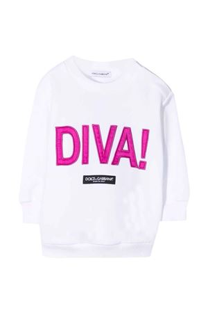Felpa bianca bambina Dolce & Gabbana kids | 8 | L5JTHMG7BHAW0800