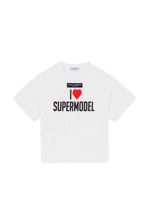 T-shirt bianca bambina Dolce & Gabbana kids | 8 | L5JTHMG7BHCHW3FP