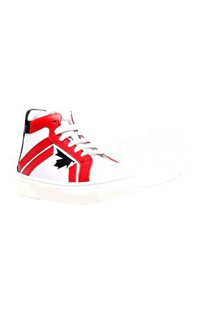 Sneakers bianche e rosse DSQUARED2 KIDS | 90000020 | 684611