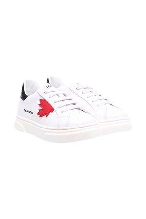 Sneakers bianche con stampa DSQUARED2 KIDS | 90000020 | 685181