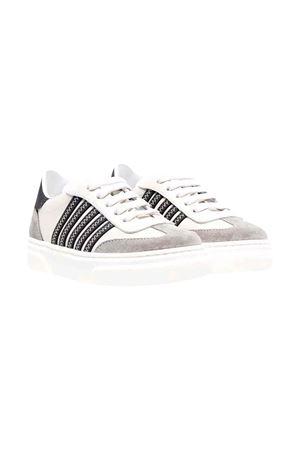 Sneakers teen bianche e grigie DSQUARED2 KIDS | 90000020 | 685644T