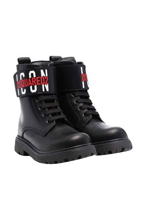 Black teen  boots DSQUARED2 KIDS | 76 | 686681T
