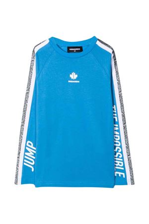 T-shirt azzurra bambino DSQUARED2 KIDS | -108764232 | DQ0304D00XMDQ802