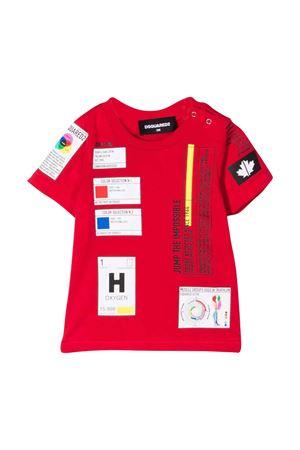T-shirt rossa neonato DSQUARED2 KIDS | 8 | DQ0317D004GDQ405