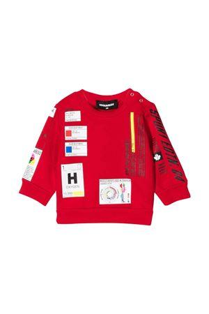 newborn red sweatshirt  DSQUARED2 KIDS | -108764232 | DQ0318D006KDQ405