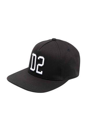 Cappello nero bambino DSQUARED2 KIDS | 75988881 | DQ0450D00YTDQ900