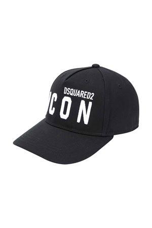 Cappello nero DSQUARED2 KIDS | 75988881 | DQ04IBD00I8DQ900