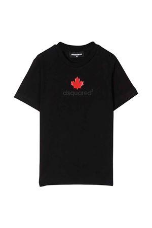 T-shirt nera teen DSQUARED2 KIDS   8   DQ0515D00MQDQ900T