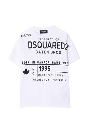 T-shirt bianca teen DSQUARED2 KIDS | 8 | DQ0520D002FDQ100T