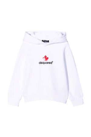 white teen sweatshirt  DSQUARED2 KIDS | 5032280 | DQ0534D00G4DQ100T