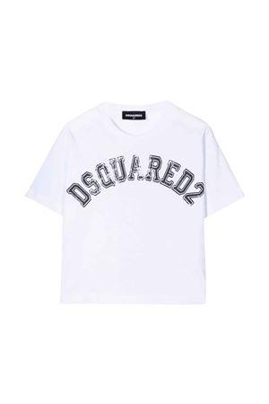 T-shirt bianca unisex DSQUARED2 KIDS | 8 | DQ0549D004GDQ100