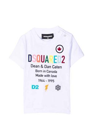 T-shirt neonato bianca DSQUARED2 KIDS   8   DQ0553D00MMDQ100