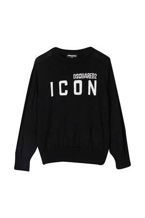 unisex black sweatshirt  DSQUARED2 KIDS   7   DQ0621D003FDQ900T