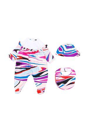 Newborn set with print EMILIO PUCCI JUNIOR | 75988882 | 9P8530J0058514CE
