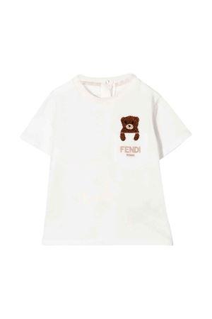 Teddy Bear T-shirt with embroidery FENDI KIDS | 8 | BUI031ST8F0TU9