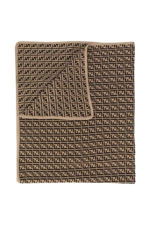 Brown  blanket FENDI KIDS | 69164127 | BUJ166A3TEF0LMJ