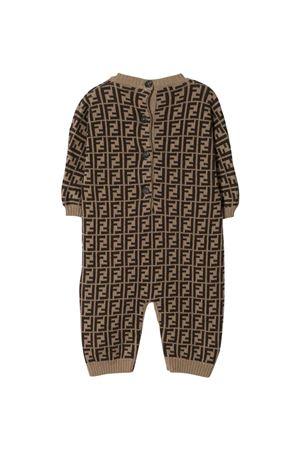 brown newborn onesie  FENDI KIDS | 1491434083 | BUL048A3TEF0LMJ
