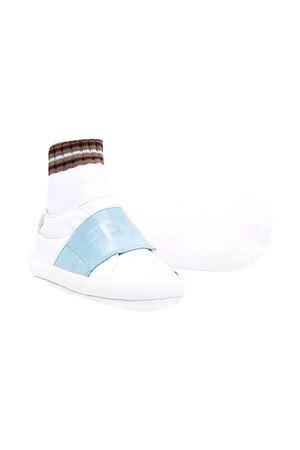 Sneakers with hook and loop fasteners FENDI KIDS | 12 | BUR088AGCDF1CQ4
