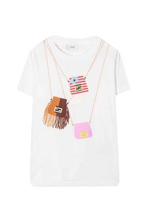 White T-shirt with press FENDI KIDS | 8 | JFI2207AJF0ZNM