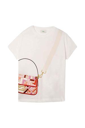 White T-shirt with press FENDI KIDS | 8 | JFI2347AJF0ZNM