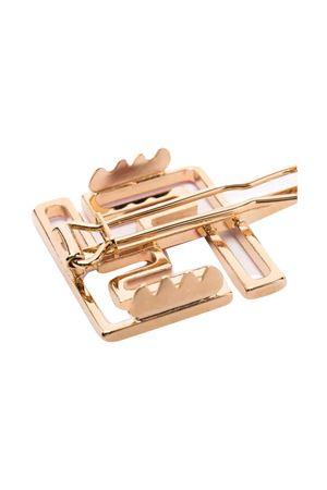 Gold hair clip  FENDI KIDS | 1901739980 | JFP227AFOUF0QC9