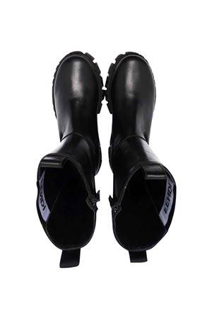 Black boots with logo. FENDI KIDS | 76 | JFR338AC7JF07LV