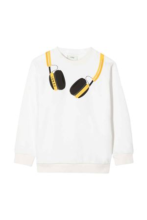 unisex white sweatsh FENDI KIDS | -108764232 | JMH1535V0F0ZNM