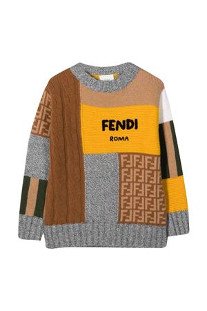unisex multicolored sweater  FENDI KIDS | -1384759495 | JUG013AG1CF0ZA0
