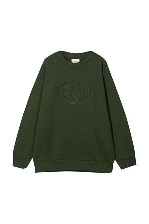 unisex green sweater FENDI KIDS | -108764232 | JUH0335V0F1E5S