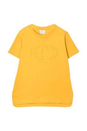 yellow unisex t-shirt  FENDI KIDS | 8 | JUI0327AJF0LWV