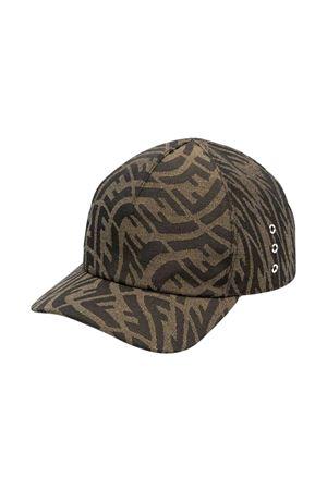 brown unisex baseball cap FENDI KIDS | 75988881 | JUP029AFORF15B6