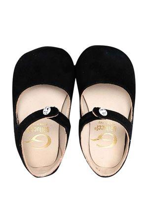 black newborn ballet flats Gallucci | 12 | C20005AM342999