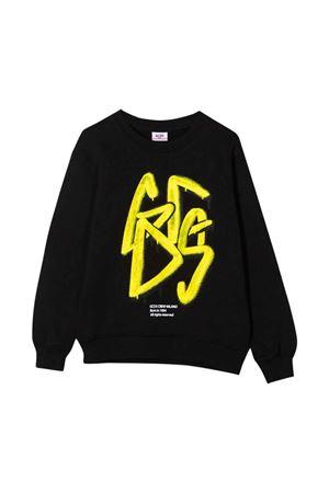 Felpa nera con stampa gialla GCDS KIDS | -108764232 | 028443110