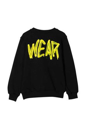 Black teen sweatshirt with yellow print GCDS KIDS | -108764232 | 028443110T