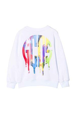 Felpa teen bianca con stampa multicolor GCDS KIDS | -108764232 | 028457001T