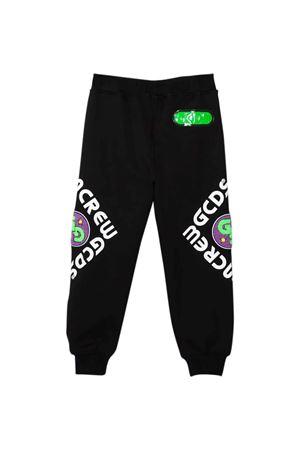 Pantalone teen nero con stampa multicolor GCDS KIDS | 9 | 028464110T