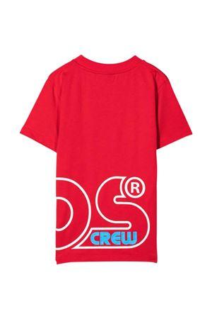 T-shirt rossa con stampa bianca GCDS KIDS | 8 | 028477040