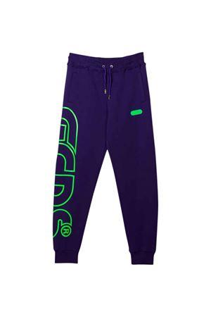 Pantalone viola con stampa verde GCDS KIDS | 9 | 028480070