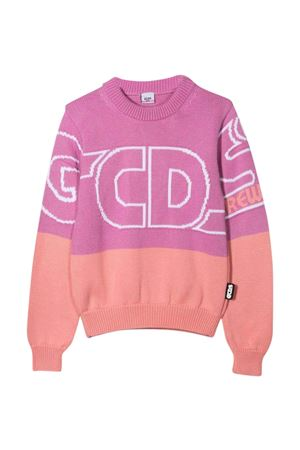 two-tone lilac and pink sweater  GCDS KIDS | 7 | 028668071
