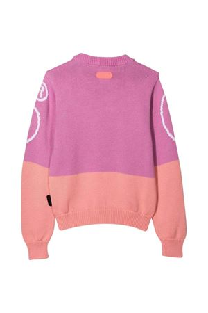 two-tone lilac and pink teen sweater  GCDS KIDS | 7 | 028668071T